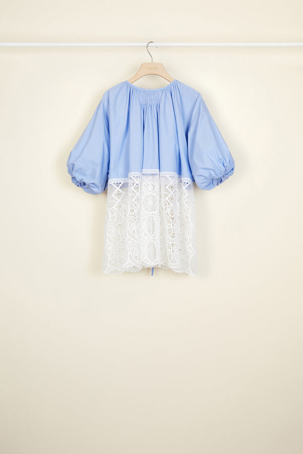 Image 4 of 5 - Communion cotton and guipure top