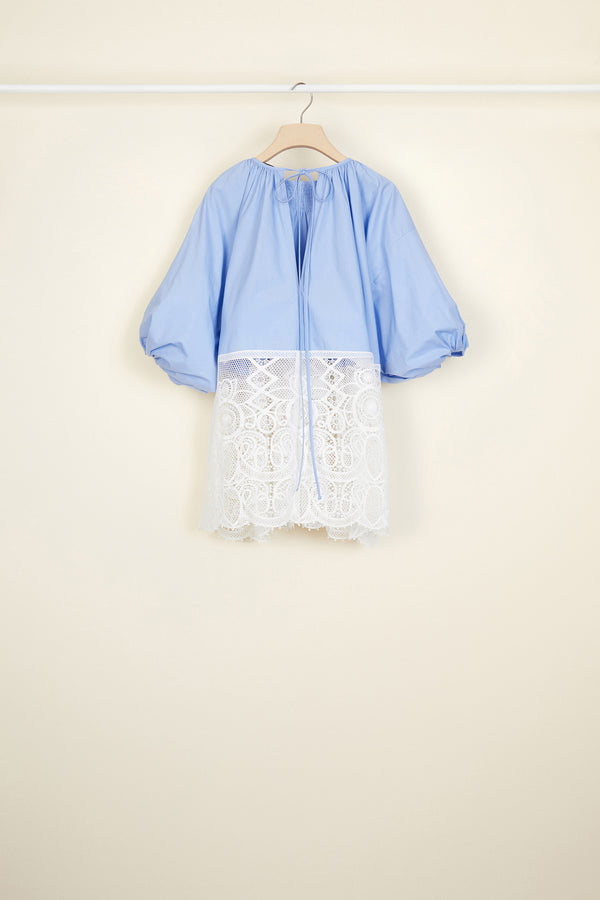 Image 5 of 5 - Communion cotton and guipure top