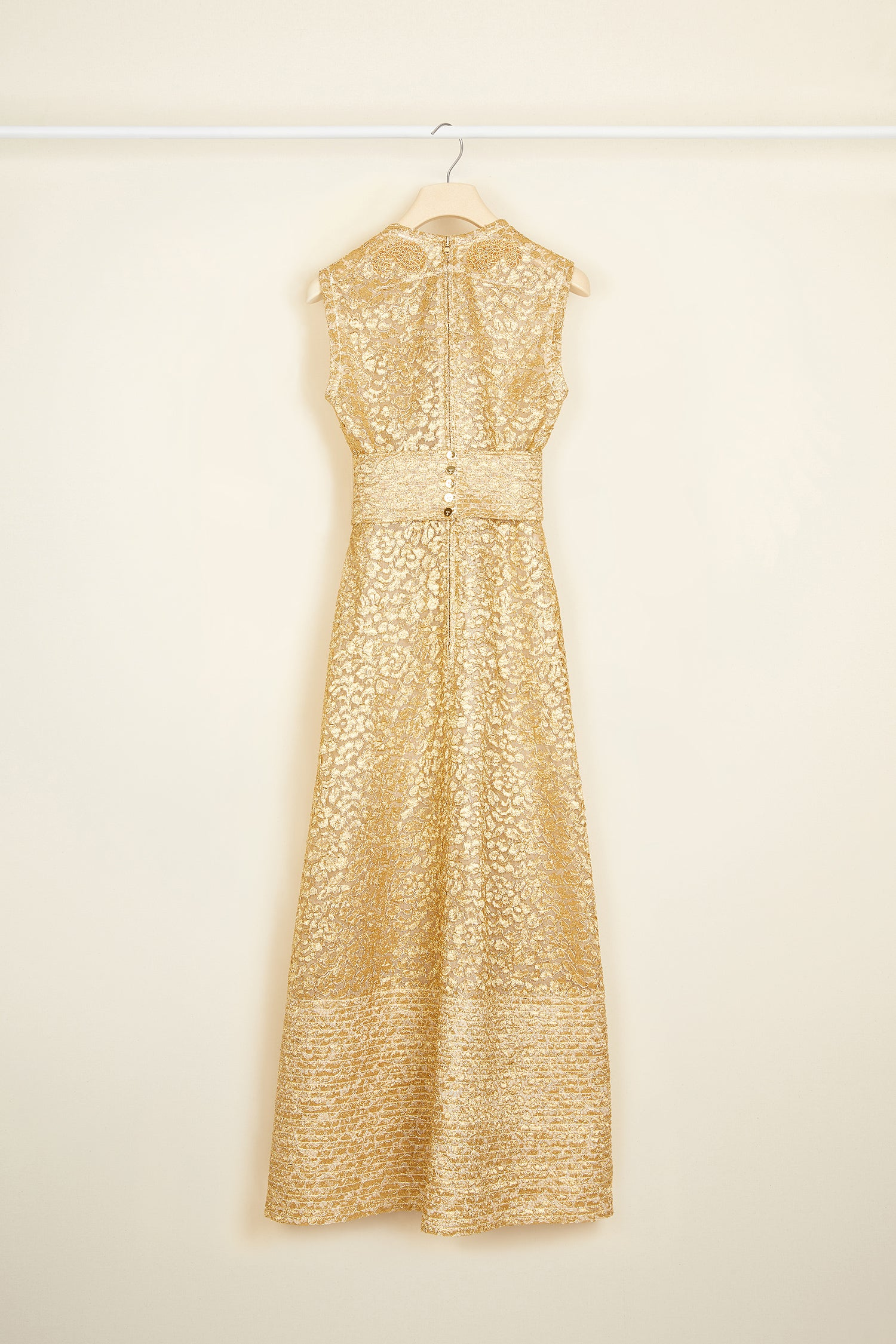 Patou - Gold lace dress with embroidery