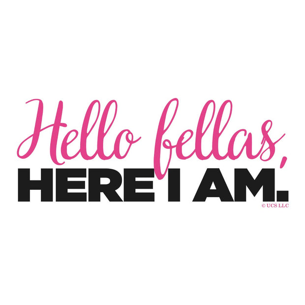 Bridesmaids Hello Fellas Here I Am Adult Tank Top