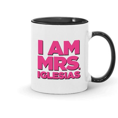 Bridesmaids I am Mrs. Iglesias Two-Tone Mug