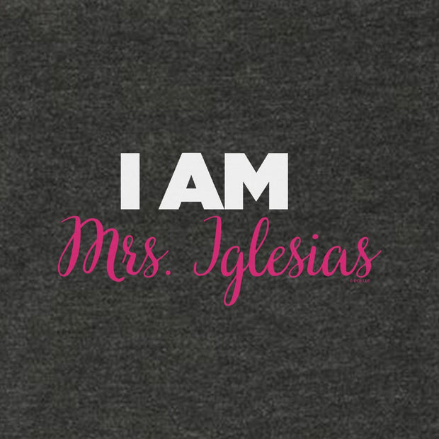 Bridesmaids I am Mrs. Iglesias Women's Tri-Blend Racerback Tank Top