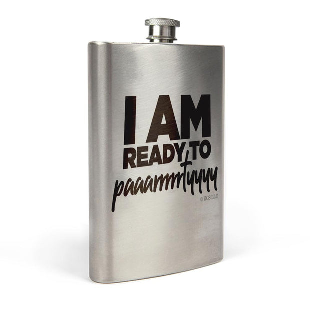 Bridesmaids I'm Ready to Party Stainless Steel Flask