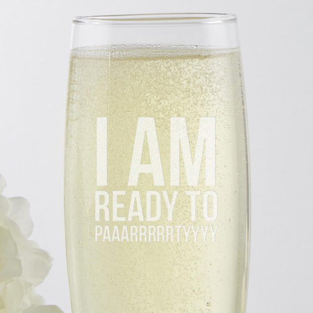 Bridesmaids I'm Ready to Party Stemless Champagne Flute