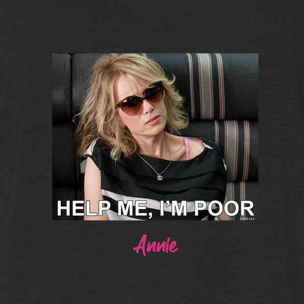 Bridesmaids Help Me I'm Poor Meme Personalized Women's Relaxed V-Neck T-Shirt