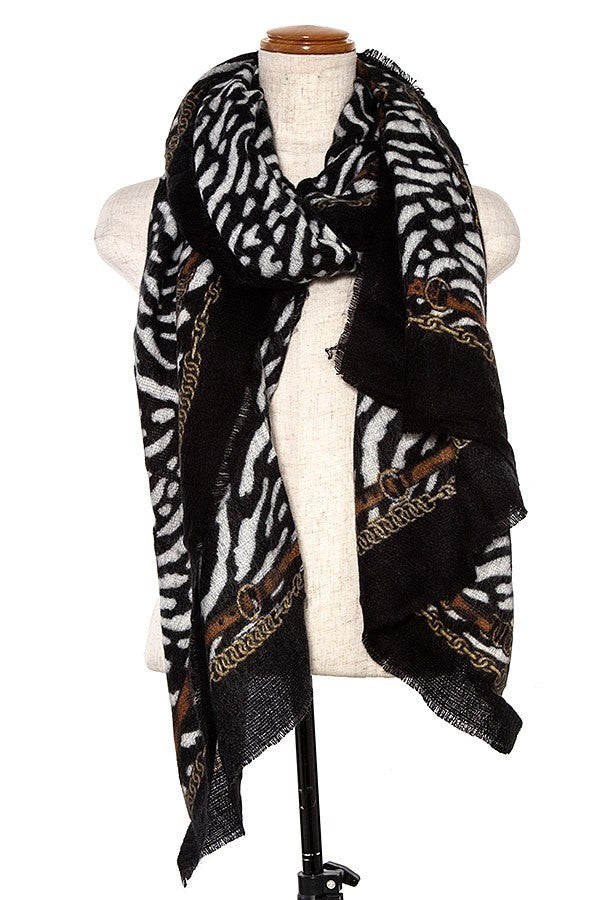OBLONG ANIMAL PRINT SCARF