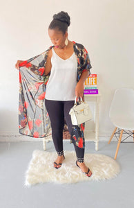 Tropical Clifton Floral Print Cardigan