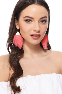 Fringe Tassel Drop Dangle Hook Earrings