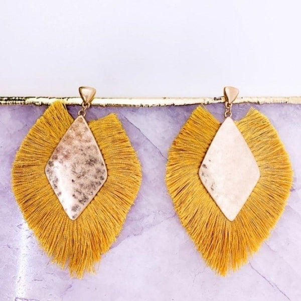 Tassel Statement Drop Earring