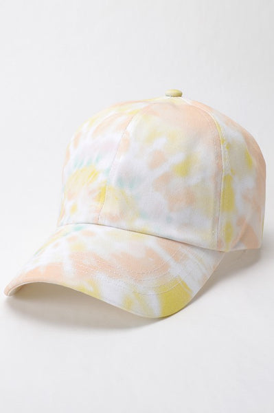Cotton Tie Dye Baseball Cap/Hat With Adjustable