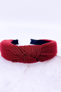 Cotton Ribbed Knot Headbands