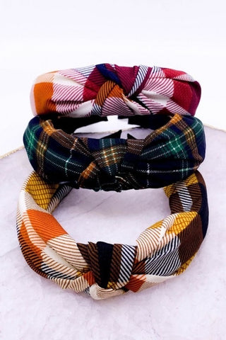 Plaid Print  Headband