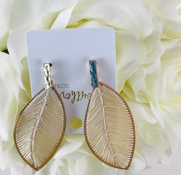 Beautiful And Gorgeous Threaded Leaf Earrings