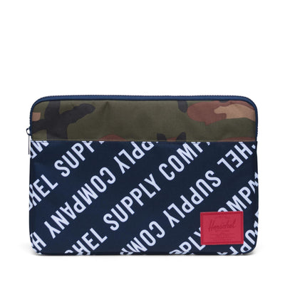 Anchor Sleeve for 15 inch MacBook Roll Call Peacoat/Woodland Camo