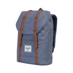 Herschel Retreat Dark Chambray Crosshatch/Tan Synthetic Leather