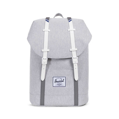 Retreat Light Grey Crosshatch/White Rubber
