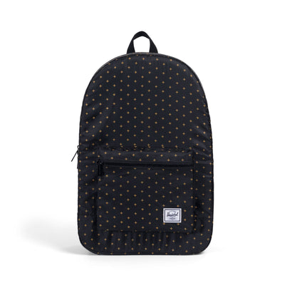 Herschel Packable Daypack Black Gridlock Gold