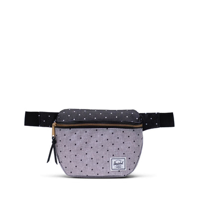 Herschel Bel Çantası Fifteen Polka Dot Crosshatch Grey/Black