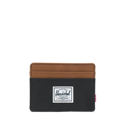 Herschel Kartlık Charlie RFID Black/Saddle Brown