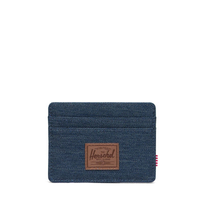 Herschel Kartlık Charlie RFID Indigo Denim Crosshatch/Saddle Brown