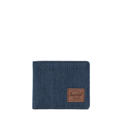 Herschel Cüzdan Roy RFID Indigo Denim Crosshatch/Saddle Brown