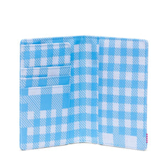 Herschel Raynor Passport Holder RFID Gingham Alaskan Blue
