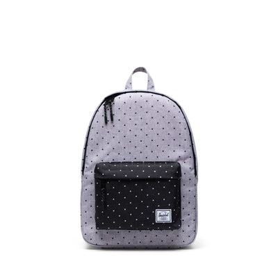 Herschel Sırt Çantası Classic Mid-Volume Polka Dot Crosshatch Grey/Black