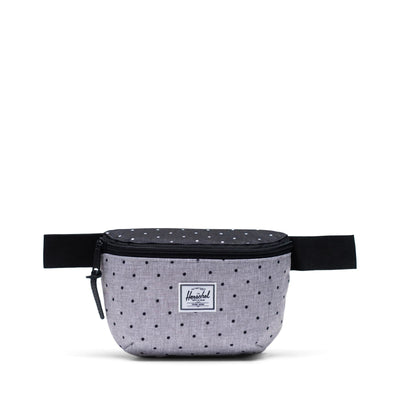 Herschel Bel Çantası Fourteen Polka Dot Crosshatch Grey/Black