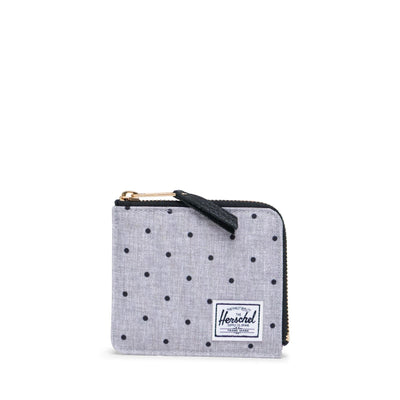 Herschel Cüzdan Jack RFID Polka Dot Crosshatch Grey/Black
