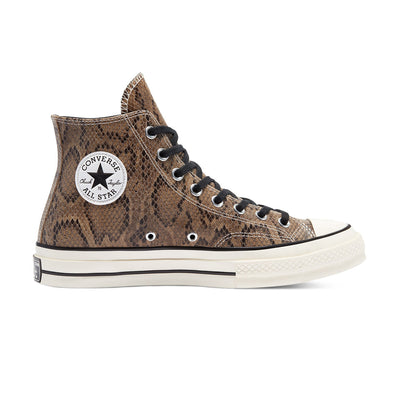 Chuck 70 Hi Reptile Print Brown Leather Unisex Spor Ayakkabısı