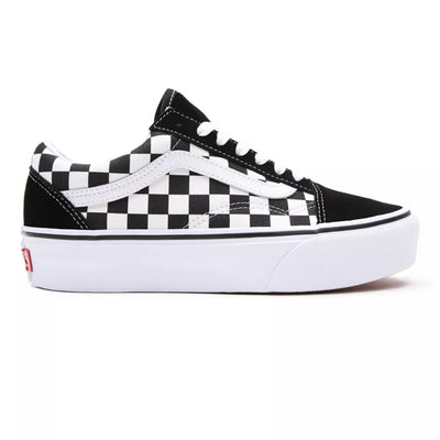 UA Old Skool Platform (Checkerboard) Black/True White Kadın Spor Ayakkabısı