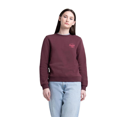 Womens Classic Logo Crewneck Plum/Mineral Red