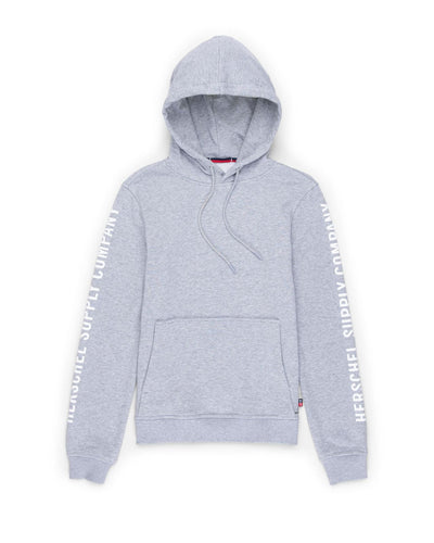 Pullover Hoodie Sleeve Print Heather Grey/White Kadın Sweatshirt