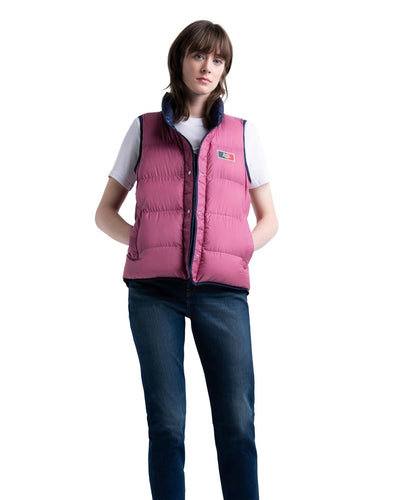 Featherless Reversible Vest Peacoat/Heather Rose/Blue Mirage Kadın Yelek
