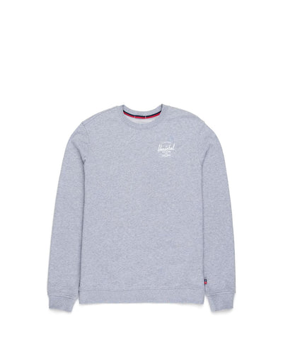 Crewneck Classic Logo Heather Grey/White Erkek Sweatshirt