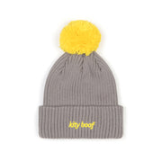Kity Boof Bere Yellow Pom Grey