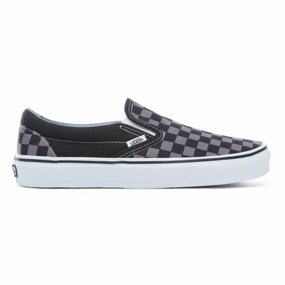 Classic Slip-On Checkerboard Black/Pewter Unisex Spor Ayakkabısı