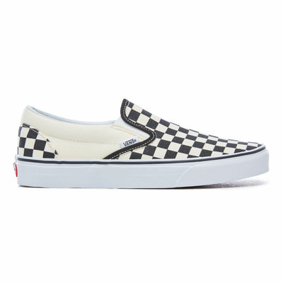 Classic Slip-On Black and White Checker/White Unisex Spor Ayakkabısı
