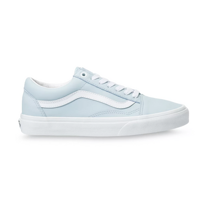 UA Old Skool (Leather) Ballad Blue/True White Unisex Spor Ayakkabısı