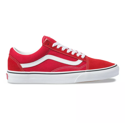 UA Old Skool Racing Red/True White Unisex Spor Ayakkabısı