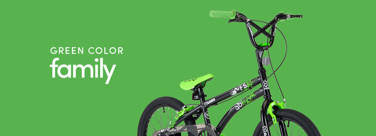 Green Color Family Bikes | Featured the X-Games FS18