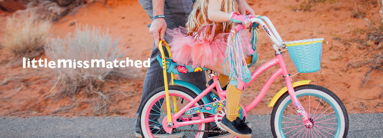 Little Missmatched Bikes | Little girl pedaling with her dad on her LMM Bike