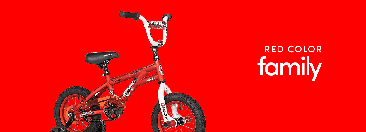 Red Color Family Bikes | Featured the Razor Rumble