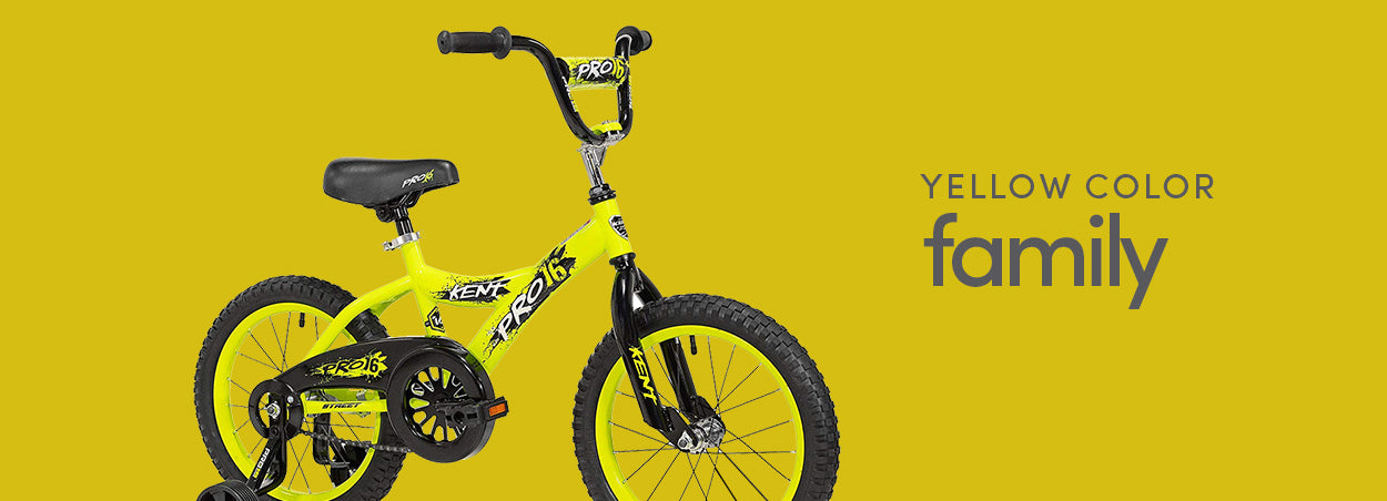 Yellow Color Family Bikes | Featured the Kent Pro16