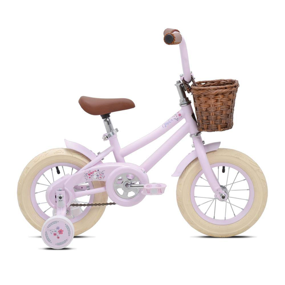 "12"" Girl's Kent Mila - Light Pink Bike with Training Wheels and Basket"