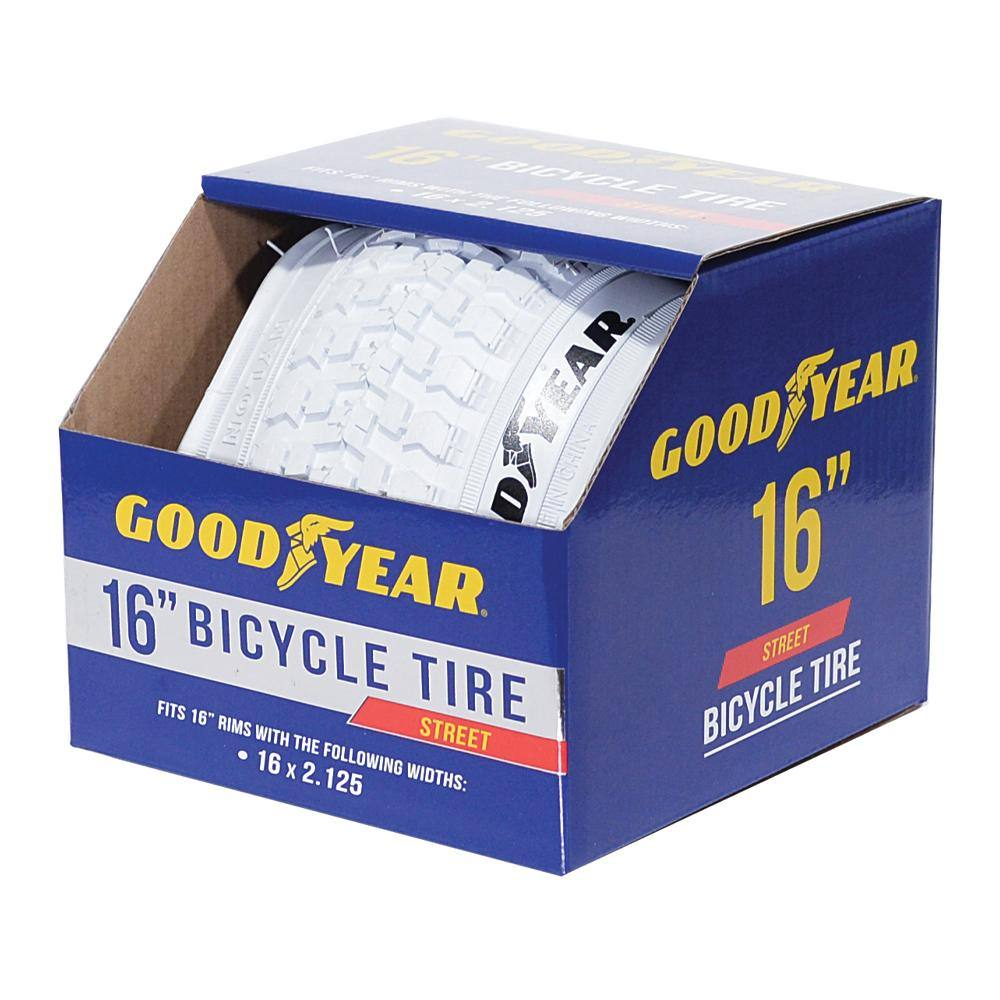 "Goodyear 16"" x 2.125"" Folding Bike Tire in White"