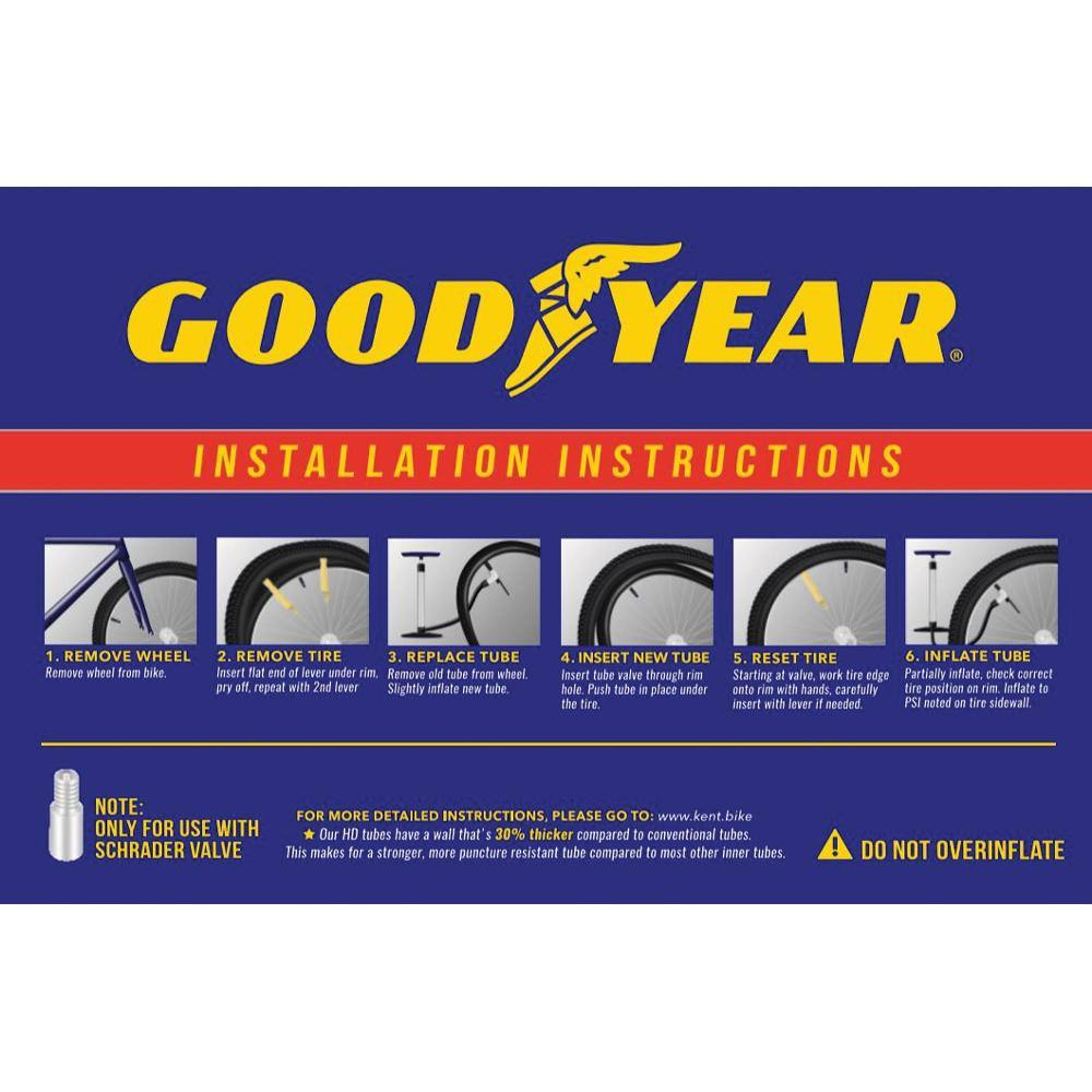 "Goodyear 18"" x 1.75""-2.125"" Heavy Duty Bike Tube"