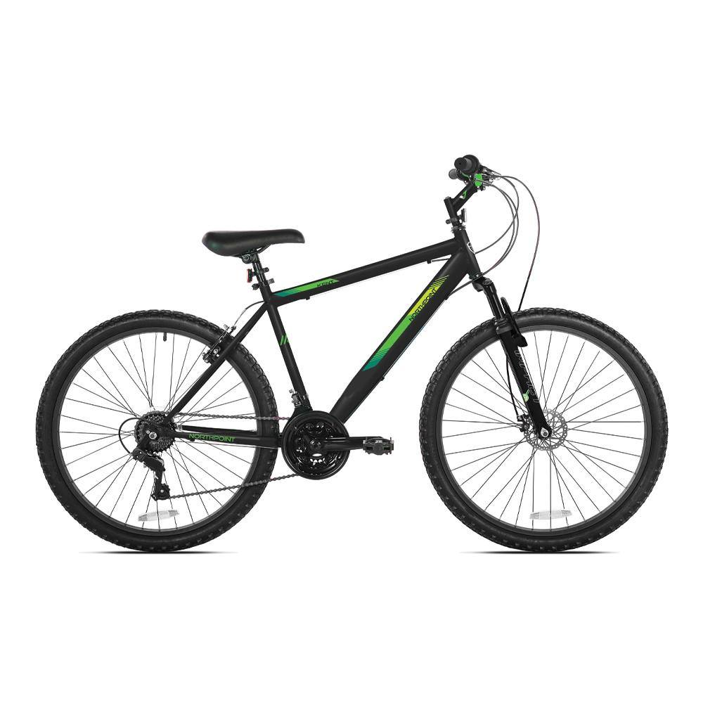 "24"" Boy's Northpoint - Black & Green Mountain Bike"