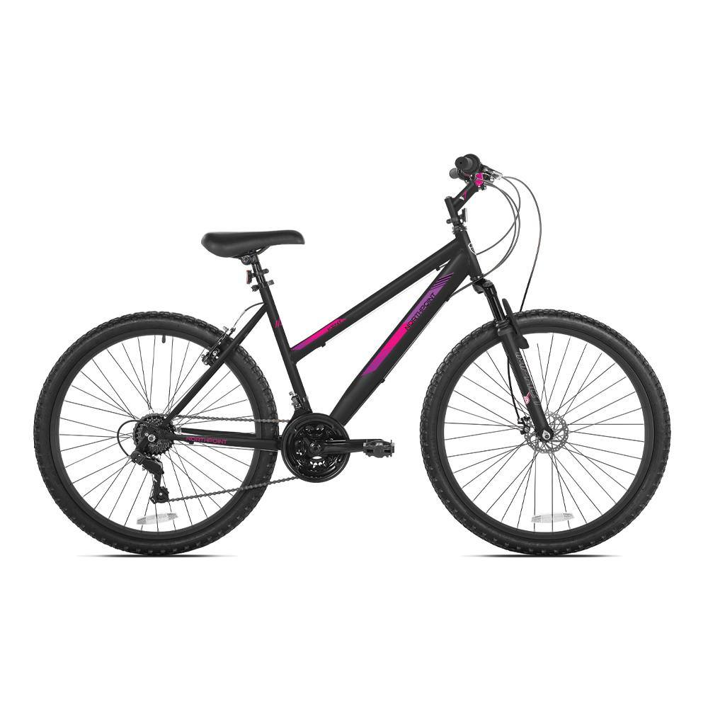 "24"" Girl's Northpoint - Black, Pink, and Purple Mountain Bike"