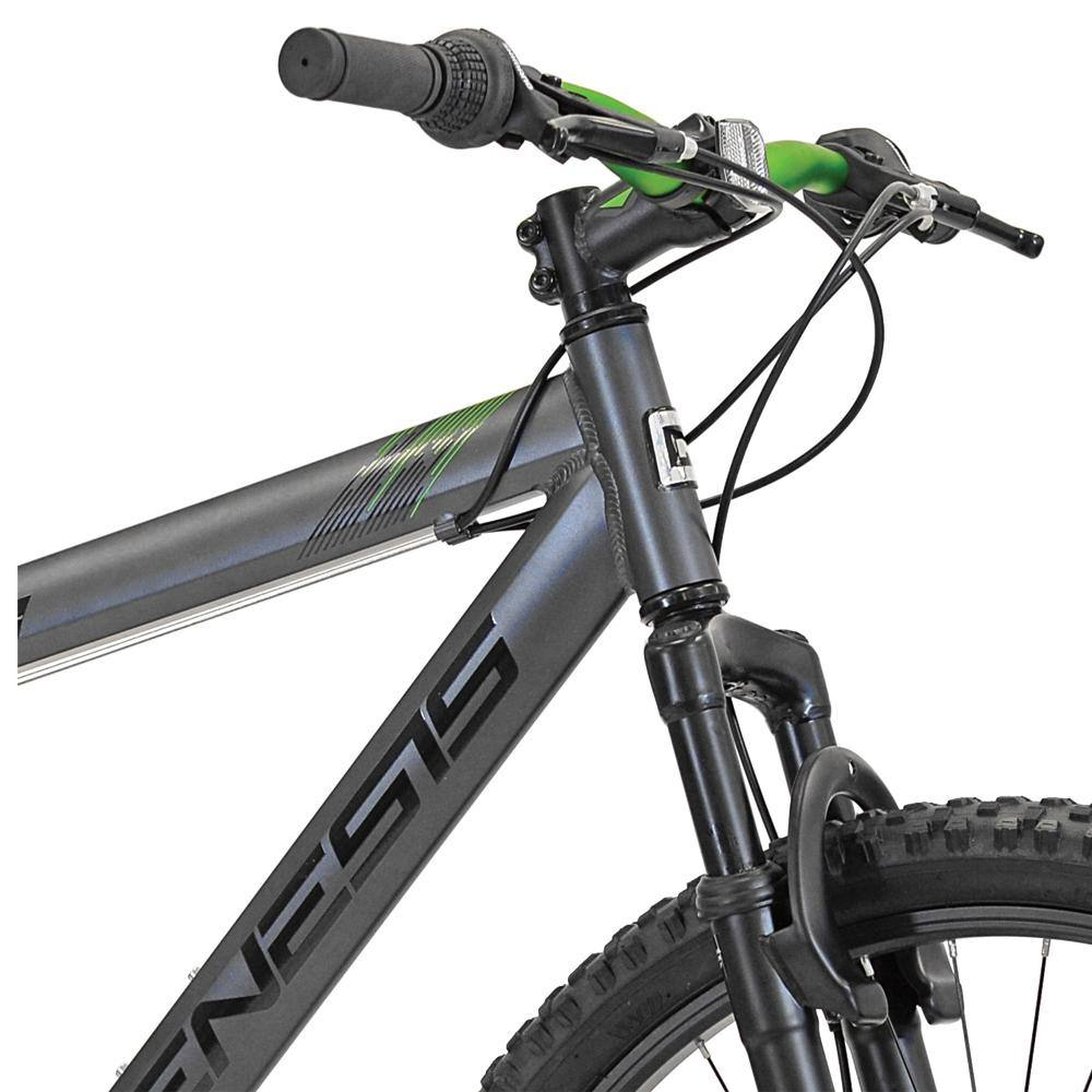 "26"" Men's Genesis V2100 in Grey - Handlebar Closeup"